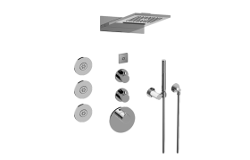 Aqua-Sense M-Series Full Thermostatic Shower System with LED