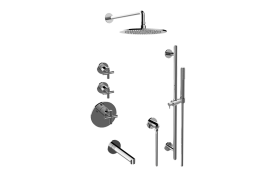 Terra M-Series Thermostatic Shower System - Tub and Shower with Handshower