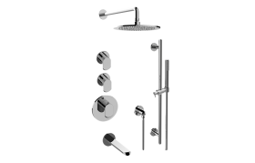 Phase M-Series Thermostatic Shower System - Tub and Shower with Handshower