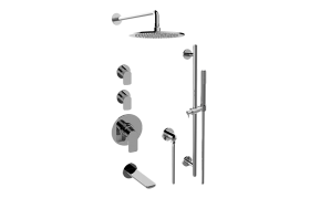 Sento M-Series Thermostatic Shower System - Tub and Shower with Handshower