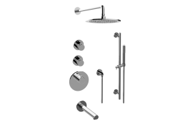 M.E. 25 M-Series Thermostatic Shower System - Tub and Shower with Handshower