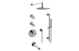 Harley M-Series Thermostatic Shower System - Tub and Shower with Handshower