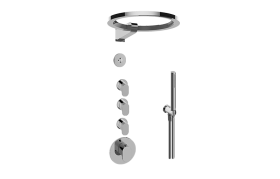 M-Series Thermostatic Set with Ametis Ring and Handshower