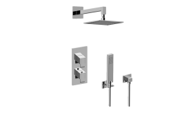 Qubic M-Series Thermostatic Shower System - Shower with Handshower