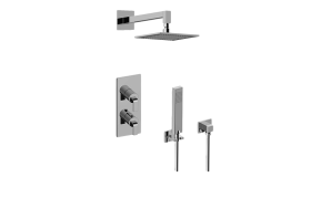 Immersion M-Series Thermostatic Shower System - Shower with Handshower