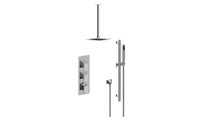 Solar M-Series Thermostatic Shower System - Shower with Handshower