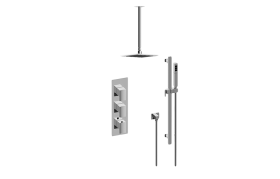 Sade M-Series Thermostatic Shower System - Shower with Handshower