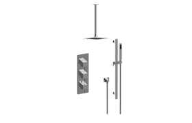 Qubic Tre M-Series Thermostatic Shower System - Shower with Handshower