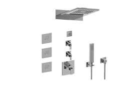 M-Series Full Thermostatic Shower System with LED