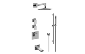 Solar M-Series Thermostatic Shower System - Tub and Shower with Handshower