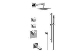 Incanto M-Series Thermostatic Shower System - Tub and Shower with Handshower