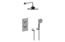 M-Series Thermostatic Shower System - Shower with Handshower