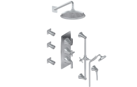 M-Series Full Thermostatic Shower System (Rough & Trim)