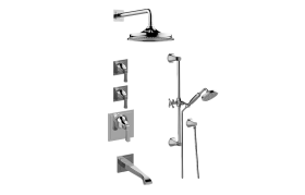Finezza UNO M-Series Thermostatic Shower System - Shower with Handshower