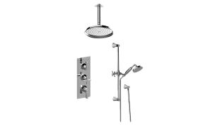 Finezza DUE M-Series Thermostatic Shower System - Shower with Handshower