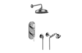 Adley M-Series Thermostatic Shower System - Shower with Handshower