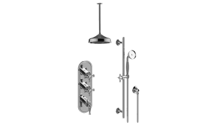 Lauren M-Series Thermostatic Shower System - Shower with Handshower