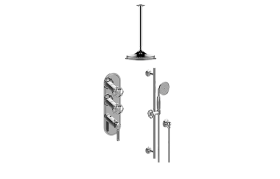 Vintage M-Series Thermostatic Shower System - Shower with Handshower