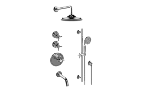 Camden M-Series Thermostatic Shower System - Tub and Shower with Handshower