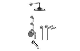 Vintage M-Series Thermostatic Shower System - Tub and Shower with Handshower