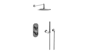 MOD+ M-Series Thermostatic Shower System - Shower with Handshower