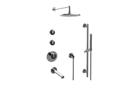 MOD+ M-Series Thermostatic Shower System - Tub and Shower with Handshower